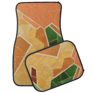 Mosaic decoration car mat