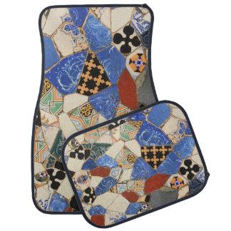 Mosaic decoration car mat