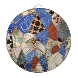 Mosaic decoration dartboard