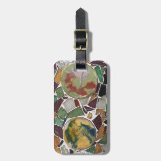 Mosaic decoration luggage tag