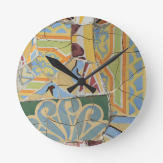 Mosaic decoration round clock