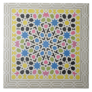 Mosaic design from the Alhambra, from 'The Arabian Tile