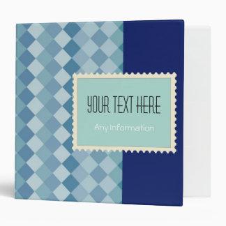 Mosaic Diamond | Plain Blue Background Vinyl Binders