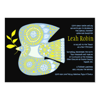 MOSAIC DOVE of PEACE Bat Mitzvah Invitation