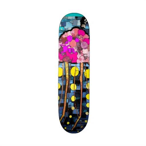 Mosaic Drained Jellyfish Skateboard