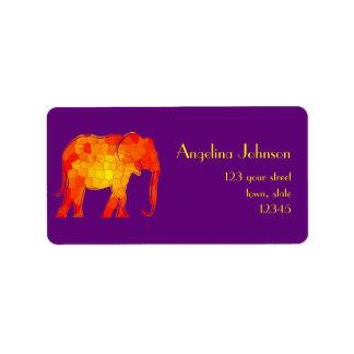 Mosaic Elephant Bold Classy Elegant Female Purple