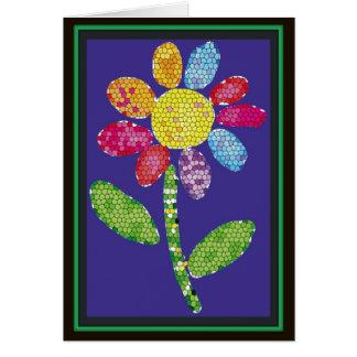 mosaic flower card
