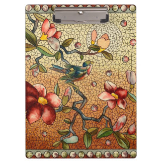Mosaic Flowers Clipboard