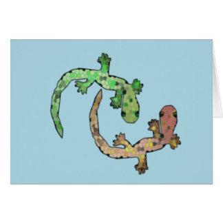 Mosaic Geckos Card