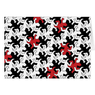 Mosaic Geckos - talk black white Card