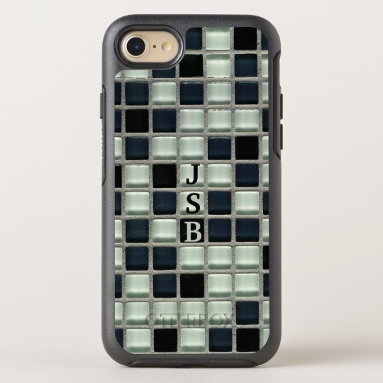 Mosaic Glass Tile Effect Monogram OtterBox Symmetry iPhone 7 Case