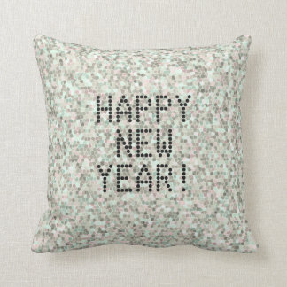 Mosaic Happy New Year Throw Pillow