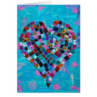 Mosaic Heart Collage Card