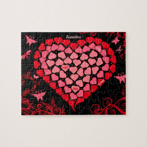 Mosaic Heart Marriage Proposal Puzzle