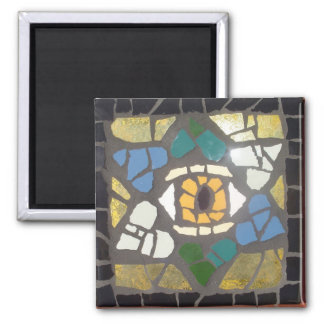 Mosaic Hearts Star of David w/Evil Eye Magnet