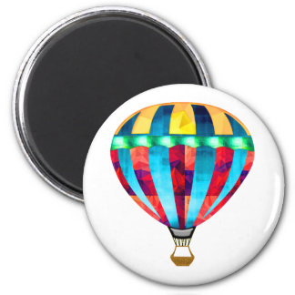 Mosaic Hot Air Balloon in Red, Yellow & Blue Refrigerator Magnets