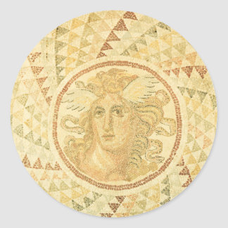 Mosaic in Athens, Greece Classic Round Sticker