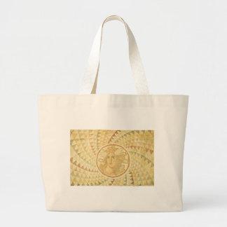 Mosaic in Athens, Greece Large Tote Bag