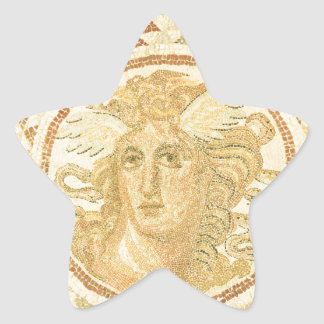 Mosaic in Athens, Greece Star Sticker