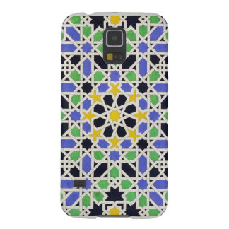 Mosaic in dado of the door in the hall of the Two Galaxy S5 Covers