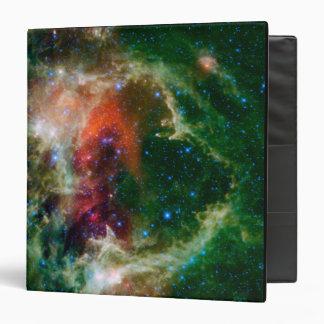 Mosaic is of the Soul Nebula 3 Ring Binder