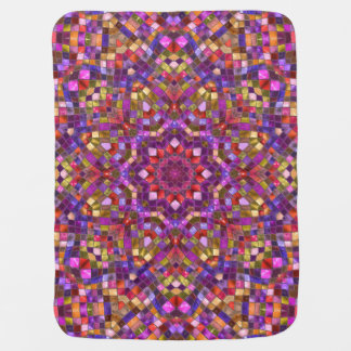 Mosaic Kaleidoscope   Baby Blankets