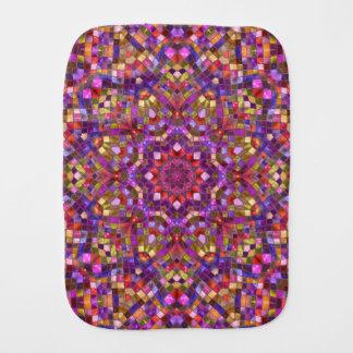Mosaic Kaleidoscope   Burp Cloth