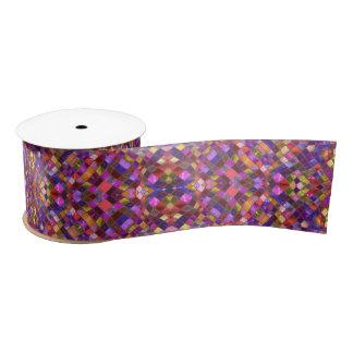 """Mosaic Kaleidoscope     Ribbon , 3"""" or 1.5"""" Satin Ribbon"""