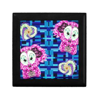 Mosaic koala and hearts gift box