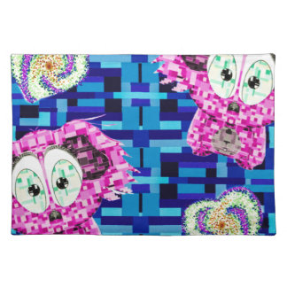 Mosaic koala and hearts placemat