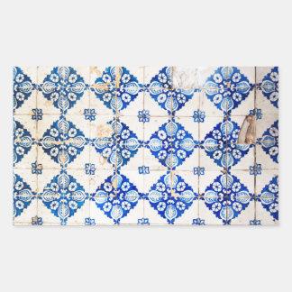 mosaic lisbon blue decoration portugal old tile sticker