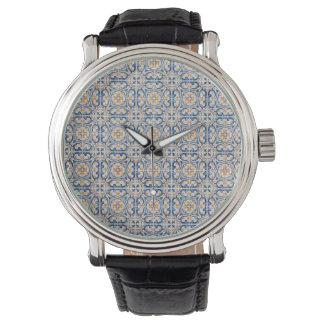 mosaic lisbon blue decoration portugal old tile watches