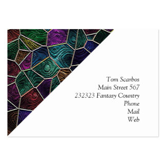 Mosaic Lora, multicolor Large Business Card