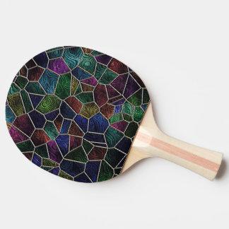 Mosaic Lora, multicolor Ping Pong Paddle