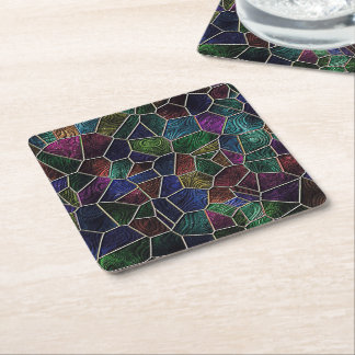 Mosaic Lora, multicolor Square Paper Coaster