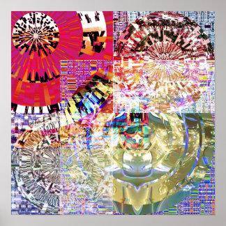 Mosaic Mandala 1.9 Poster