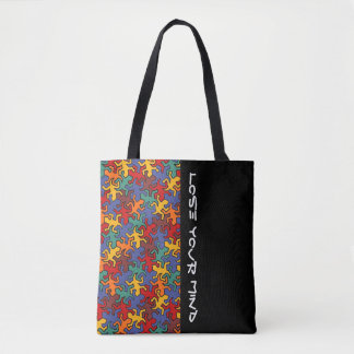 Mosaic Mirror Geckos Pattern - earth colored Tote Bag