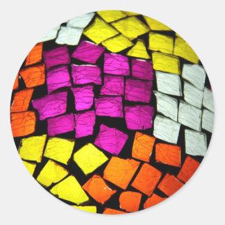 Mosaic Multicolor Classic Round Sticker