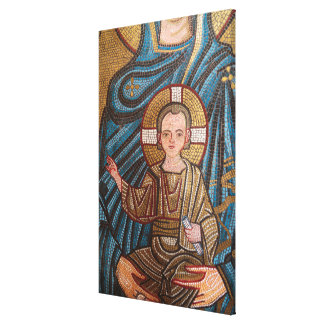 Mosaic Of Baby Jesus Canvas Print