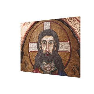 Mosaic Of Jesus Canvas Print