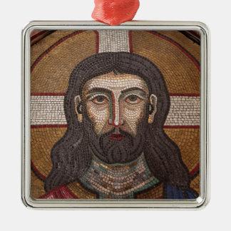 Mosaic Of Jesus Metal Ornament