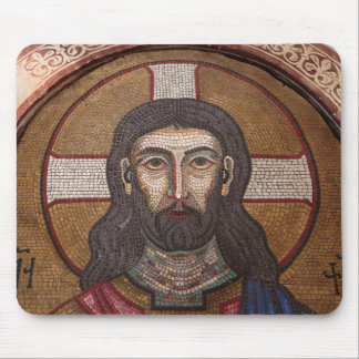 Mosaic Of Jesus Mouse Pad