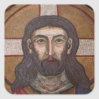 Mosaic Of Jesus Square Sticker