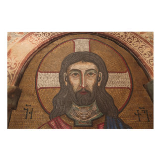 Mosaic Of Jesus Wood Wall Art