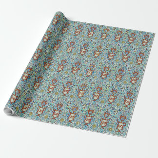 Mosaic of StateGrey color of the Alhambra. Wrapping Paper