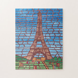 Mosaic Painting Eiffel Tower Jigsaw Puzzles