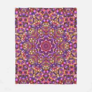 Mosaic Pattern Custom Fleece Blanket, 3 sizes