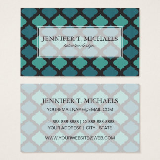 Mosaic pattern in arab style business card