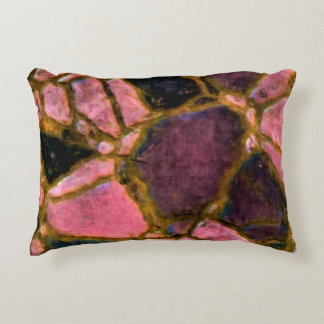 Mosaic pattern in purple plum accent pillow
