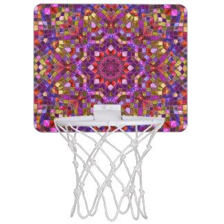 Mosaic Pattern Mini Basketball Goal Mini Basketball Hoop